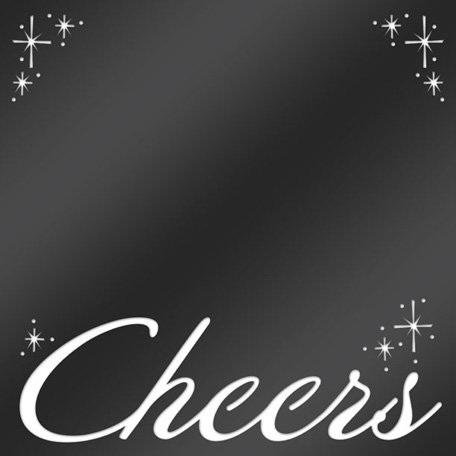 Creative Imaginations - Cheers Collection - 12 x 12 Die Cut Paper with Pearl Accents - Cheers
