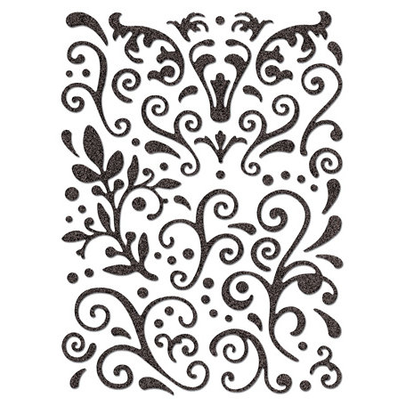 Creative Imaginations - Cheers Collection - Glitter Stickers - Flourish
