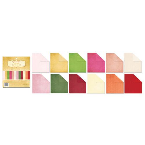 Creative Imaginations - 6 x 6 Paper Pad - Dots and Stripes - Warm