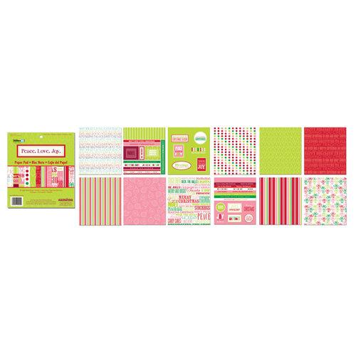 Creative Imaginations - 6 x 6 Paper Pad - Peace Love Joy