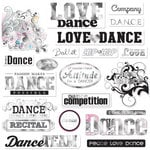 Creative Imaginations - Dance Collection - Die Cut Cardstock Pieces with Foil Accents