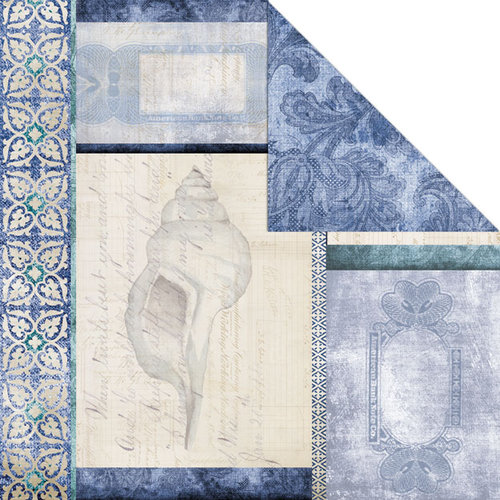 Creative Imaginations - Oceanside Collection - 12 x 12 Double Sided Paper - Oceanside
