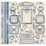 Creative Imaginations - Oceanside Collection - 12 x 12 Cardstock Stickers - Oceanside