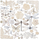Creative Imaginations - Oceanside Collection - Die Cut Cardstock Pieces - Springtime
