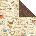 Creative Imaginations - Song Birds Collection - 12 x 12 Double Sided Paper - Sweet Treat