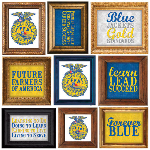 Creative Imaginations - FFA Collection - Die Cut Cardstock Pieces - Frames