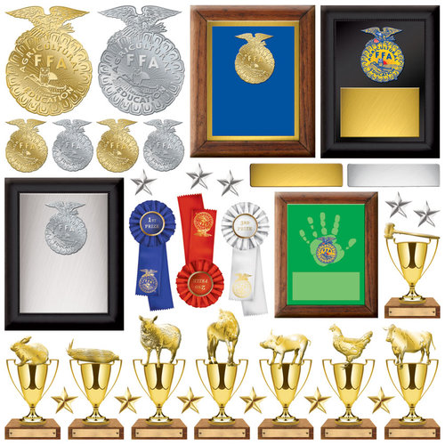 Creative Imaginations - FFA Collection - Die Cut Cardstock Pieces - Plaques