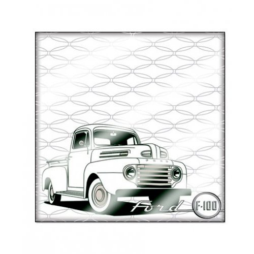 Creative Imaginations - Ford Enthusiast Collection - 12 x 12 Paper with Varnish Accents - Ford F100