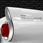 Creative Imaginations - Ford Enthusiast Collection - 12 x 12 Paper with Foil Accents - T-Bird Fin