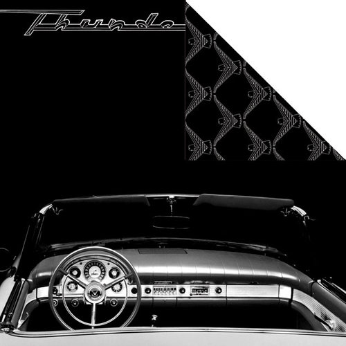 Creative Imaginations - Ford Enthusiast Collection - 12 x 12 Double Sided Paper - T-Bird Interior