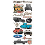 Creative Imaginations - Ford Enthusiast Collection - Clear Stickers - Ford Vintage