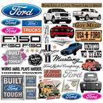 Creative Imaginations - Ford Enthusiast Collection - 12 x 12 Cardstock Stickers - Ford