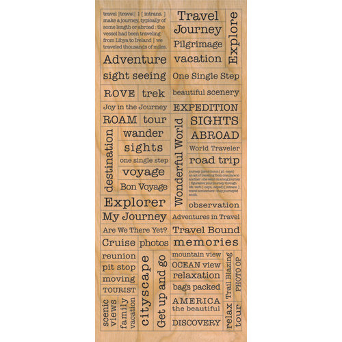 Creative Imaginations - Signature Collection - Cardstock Stickers - Wood Travel
