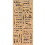 Creative Imaginations - Signature Collection - Cardstock Stickers - Wood Inspiration