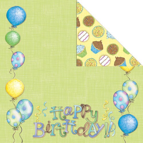 Creative Imaginations - Make a Wish Collection - 12 x 12 Double Sided Paper - Birthday Boy