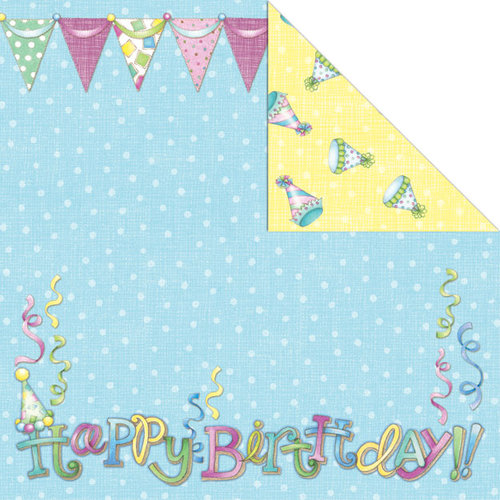 Creative Imaginations - Make a Wish Collection - 12 x 12 Double Sided Paper - Birthday Girl