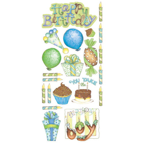Creative Imaginations - Make a Wish Collection - Cardstock Stickers - Birthday Boy