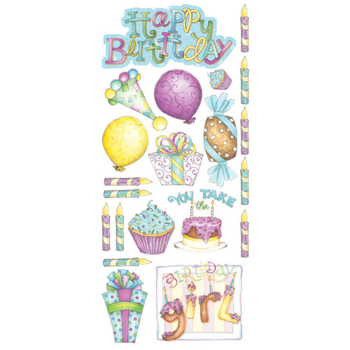 Creative Imaginations - Make a Wish Collection - Cardstock Stickers - Birthday Girl