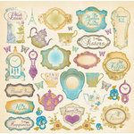 Creative Imaginations - Tea Party Collection - 12 x 12 Cardstock Stickers - Tea Party