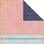 Creative Imaginations - Nautical Collection - 12 x 12 Double Sided Paper - Ocean Wave
