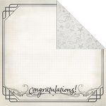 Creative Imaginations - Congrats Grad Collection - 12 x 12 Double Sided Paper - Congratulations