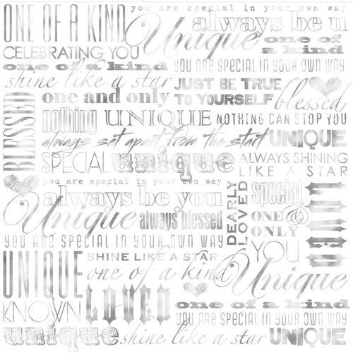 Creative Imaginations - Heaven Sent Collection - 12 x 12 Paper with Foil Accents - Unique You