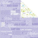 Creative Imaginations - Family Matters Collection - 12 x 12 Double Sided Paper - Mom