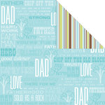 Creative Imaginations - Family Matters Collection - 12 x 12 Double Sided Paper - Dad