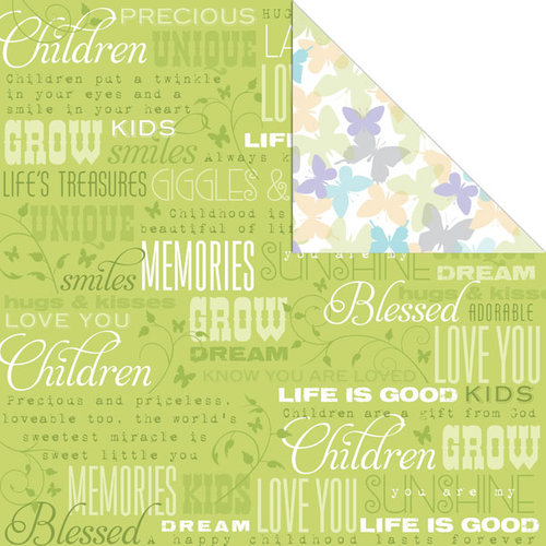 Creative Imaginations - Family Matters Collection - 12 x 12 Double Sided Paper - Children