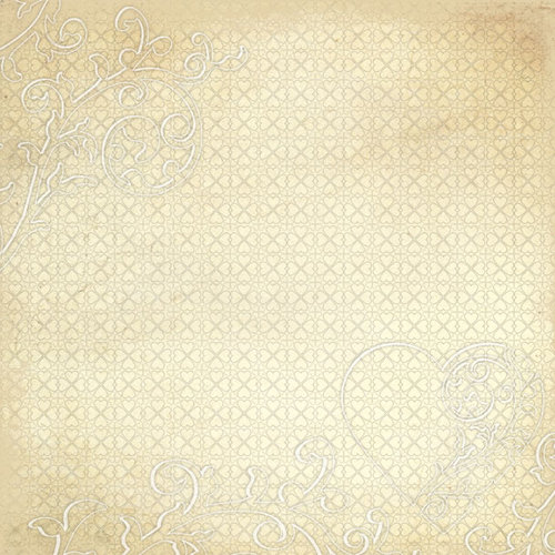 Creative Imaginations - Love Blooms Collection - 12 x 12 Paper with Varnish Accents - Victorian