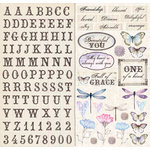 Creative Imaginations - Beautiful You Collection - 12 x 12 Cardstock Stickers