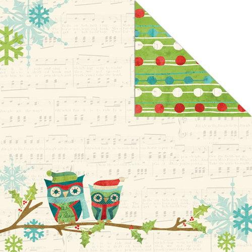 Creative Imaginations - Holiday Joy Collection - Christmas - 12 x 12 Double Sided Paper - Joyful Owl