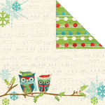 Creative Imaginations - Holiday Joy Collection - Christmas - 12 x 12 Double Sided Paper - Joyful Owl