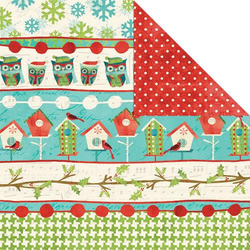Creative Imaginations - Holiday Joy Collection - Christmas - 12 x 12 Double Sided Paper - Joyful Stripe