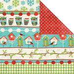 Creative Imaginations - Holiday Joy Collection - Christmas - 12 x 12 Double Sided Paper - Joyful Stripe