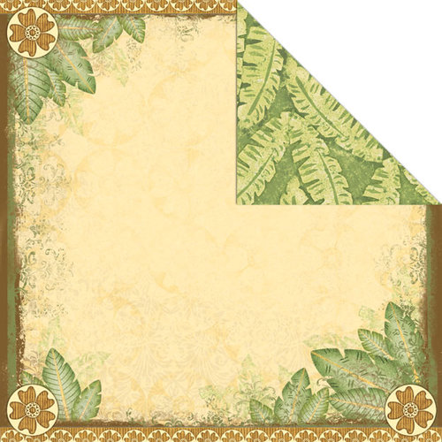 Creative Imaginations - Wild Side Collection - 12 x 12 Double Sided Paper - Wild Leaf
