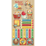 Creative Imaginations - Back 2 School Collection - Cardstock Stickers - School Days