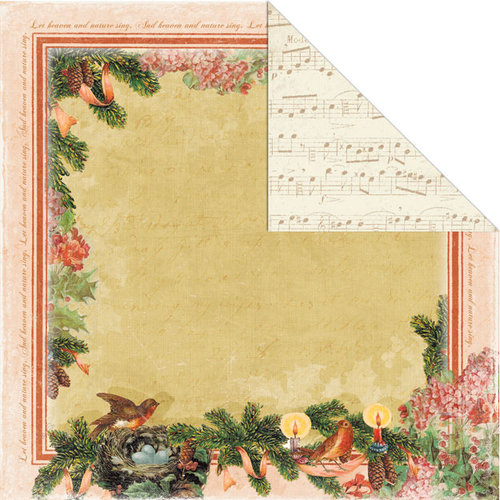 Creative Imaginations - Rejoice Collection - Christmas - 12 x 12 Double Sided Paper - Rejoice