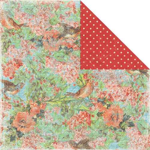 Creative Imaginations - Rejoice Collection - Christmas - 12 x 12 Double Sided Paper - Holly and Birds