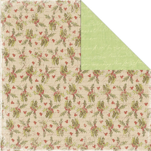 Creative Imaginations - Rejoice Collection - Christmas - 12 x 12 Double Sided Paper - Holly Berries