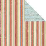 Creative Imaginations - Rejoice Collection - Christmas - 12 x 12 Double Sided Paper - Rejoice Stripes