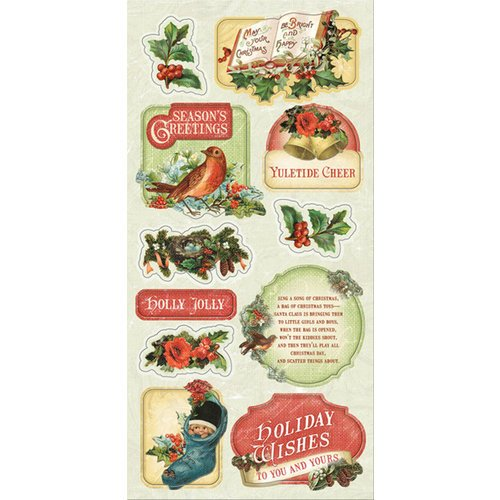 Creative Imaginations - Rejoice Collection - Christmas - Cardstock Stickers - Two