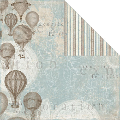 Creative Imaginations - Gallivant Collection - 12 x 12 Double Sided Paper - Adventure
