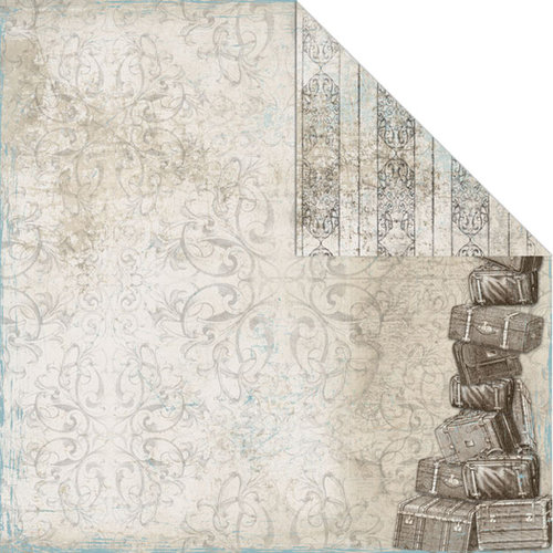 Creative Imaginations - Gallivant Collection - 12 x 12 Double Sided Paper - Getaway