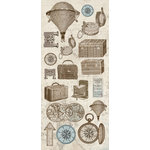 Creative Imaginations - Gallivant Collection - Cardstock Stickers