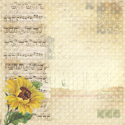 Creative Imaginations - Assemblage Collection - 12 x 12 Paper with Varnish Accents - Serenade