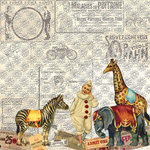 Creative Imaginations - Assemblage Collection - 12 x 12 Paper with Varnish Accents - Amusement