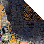 Creative Imaginations - Hallow's Eve Collection - Halloween - 12 x 12 Double Sided Paper - Ghastly