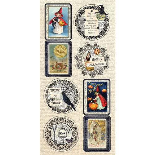 Creative Imaginations - Hallow's Eve Collection - Halloween - Cardstock Stickers - Wicked