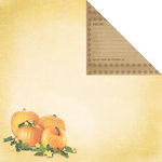 Creative Imaginations - Family Garden Collection - 12 x 12 Double Sided Paper - Pumpkin